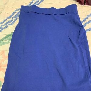 Forever 21 Blue/Purple Bodycon Skirt Small